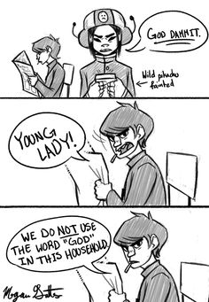 """artbymegs: """" When I'm not sure what to draw, I just remake text posts into comics. (Please do not remove link) """""""