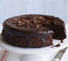 Healthier than your average chocolate cake, this rich and dark bake is lighter on the calorie count
