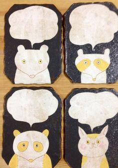 Ceramic Pottery, Ceramic Art, Kagoshima, Ceramic Pendant, Japanese Ceramics, Pebble Art, Artisanal, Stone Painting, Vintage Paper
