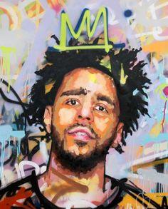 J Cole Original Painting 40 Worldwide Shipping J Cole Art, Rap Us, Rapper Art, Hip Hop Art, Thing 1, Dope Art, Black Art, Art Reference, Fine Art America