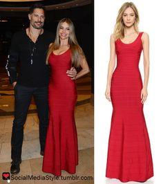 Buy Sofia Vergara's New Years Eve Red Bandage Gown, here!