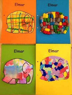 ... Elephant Room, Elephant Crafts, Elmer The Elephants, Preschool Books, Early Literacy, Creative Teaching, Animal Crafts, Literacy Activities, Art For Kids