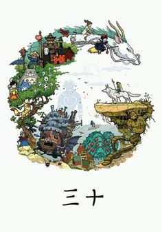 I think this will be the studio ghibli tattoo i wanna get- Mia Vuk Manga Anime, Art Anime, Anime Kunst, Studio Ghibli Films, Art Studio Ghibli, Studio Ghibli Poster, Studio Ghibli Tattoo, Hayao Miyazaki, Fan Art