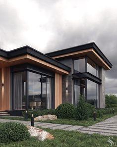 Modern Exterior House Designs, Best Modern House Design, Modern House Facades, Modern Villa Design, Dream House Exterior, Modern Architecture House, Modern Contemporary House, Modern Homes, Exterior Design