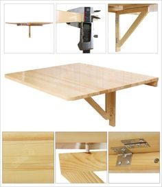 Wall Mounted Table Design Ideas Astonishing Fold Away 81 About Remodel Interior Decor Home With in attachment with category Design Folding Furniture, Space Saving Furniture, Home Furniture, Furniture Ideas, Fold Down Table, Fold Out Desk, Wall Mounted Table, Solid Wood Table, Drop Leaf Table