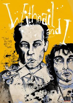 Withnail and I - the perfect comedy Withnail And I, Unique Poster, Movies Worth Watching, Album Book, Movie Tv, 1980's Movies, About Time Movie, Sleeve Designs, Film Posters