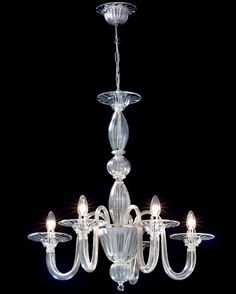 Topdomus Murano glass chandelier 202230/5 trademark VETROARTISTICO® MURANO #TopdomusMurano