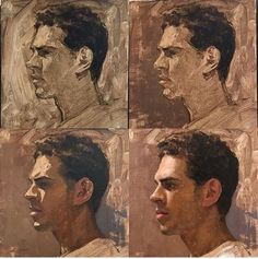 Painting Process, Painting Lessons, Figure Painting, Painting & Drawing, Portrait Art, Portraits, Arte Sketchbook, Guache, Learn Art