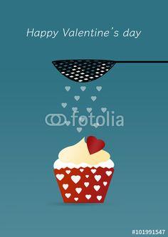 #affetto #amore #coppia #cupcake #dolci #festa #festività #illustrazione #ricorrenza #sanvalentino #sentimenti