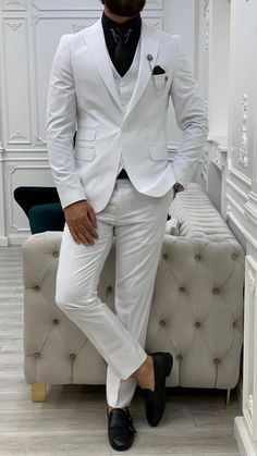Formal Men Outfit, Formal Suits, Gentleman's Wardrobe, Punjabi Salwar Suits, Suit Vest, Men's Suits, Tie And Pocket Square, Black Suits, Wedding Suits