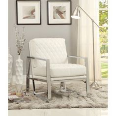 Extremely Elegant Accent Chair, White