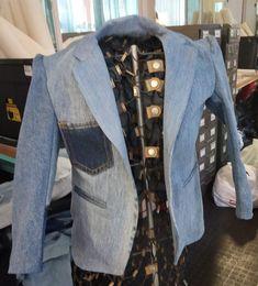 Upcycled Denim blazer for kids Denim Blazer, Upcycle, Kids, Pants, Jackets, Fashion, Young Children, Trouser Pants, Down Jackets