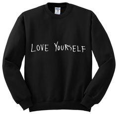 justin bieber love yourself crewneck sweatshirt by shoptrainwreck