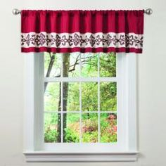 @Overstock - This valance is crafted of faux silk with a scroll embroidery.  Rod pocket slides onto curtain rod for installation.http://www.overstock.com/Home-Garden/Lush-Decor-Sienna-Embroiderd-Valance/6433790/product.html?CID=214117 $23.15