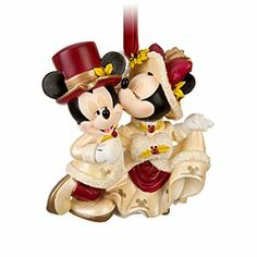 Disney Minnie and Mickey Mouse Ornament | Disney StoreMinnie and Mickey Mouse Ornament - Love is in the air this holiday season, especially on this finely crafted ornament. Victorian lady Minnie can't resist a kiss for her dapper gentleman Mickey. Just as you won't be able to resist this charming holiday piece.