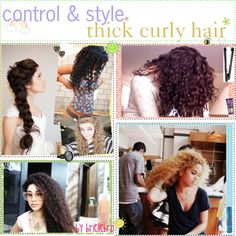 """""""Control & style - thick curly hair. ♥"""" by the-polyvore-tipgirls ❤ liked on Polyvore"""