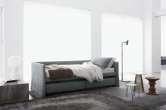 The elegance of simplicity. Duetto by Flou: single bed, sofa or bed   http://www.flou.it/it/products/sofabeds/duetto_17