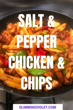 This Slimming World salt and pepper chicken and chips recipe is Syn free, and every bit as good as anything you'll get from your local Chinese restaurant! Slimming World Fakeaway, Slimming World Chicken Recipes, Slimming World Recipes Syn Free, Slimming World Diet, Yummy Chicken Recipes, Quick Recipes, Cooking Recipes, Healthy Recipes, Nice Meals