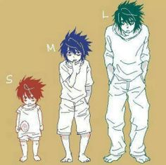 Befor he was L he was M & befor that he was S LOL #DeathNote