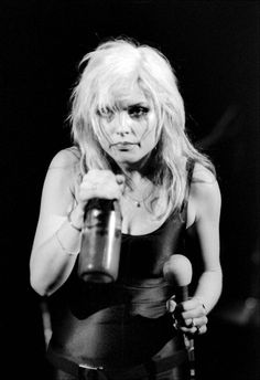 Debbie Harry, Blondie at the Palladium, New York City, November 12 1978, by Allan Tannenbaum.