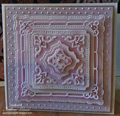 Paper Play by Kathi: Marvelous Squares Card with Rhinestones Added