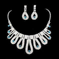 Свадебное платье невесты Кристалл ожерелье серьги комплект ювелирных изделий – RUB p. 754,57