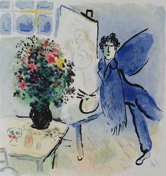 Marc Chagall - The Blue Workshop, 1973