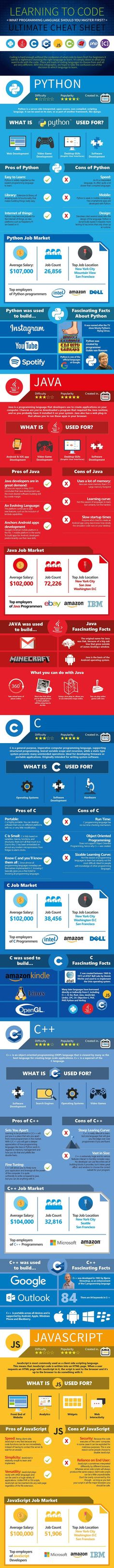 Should You Learn Python, C, or Ruby to Be a Top Coder? (Infographic) — Life Tips — Medium