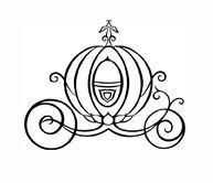 Cinderella pumpkin Carriage Outline | cinderella pumpkin cinderella tattoo ideas ring pillows pumpkin tattoo ...