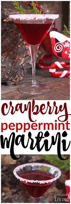 After a long year it only makes sense to sip on this Cranberry Peppermint Martini and pat yourself on the back for another great year! Promise, I won't tell Santa if you don't! Vodka Recipes, Easy Drink Recipes, Martini Recipes, Cocktail Recipes, Christmas Martini, Christmas Cocktails, Holiday Cocktails, Christmas Desserts, Christmas Recipes