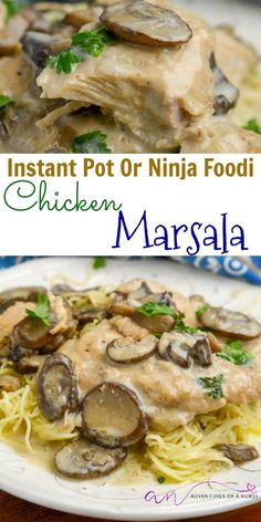 Chicken Marsala Instant Pot or Ninja Foodi. A classic Italian dish that can be made in your Instant Pot or Ninja Foodi to speed up the cook time. Ninja Recipes, Top Recipes, Healthy Recipes, Easy Recipes, Delicious Recipes, Beef Recipes, Juicer Recipes, Cheap Recipes, Blender Recipes