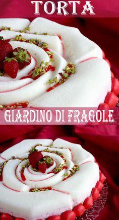 Torta giardino di fragole di Luca Montersino