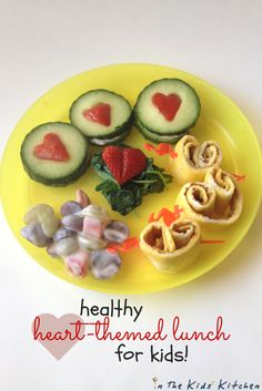 Heart-themed Lunch for Preschoolers - In the Kids' Kitchen