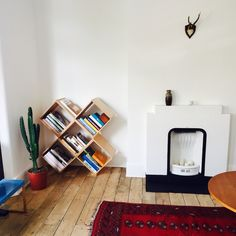 No45x Bookcase by Nomad in London apartment.