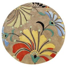 Found it at Wayfair - Casablanca Eastern Contemporary 6 Round Rug....for kelly