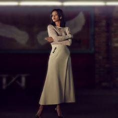 Rihanna for W Magazine Korea, W Magazine, Rihanna, High Neck Dress, Style Inspiration, Chic, My Style, Jackets, Vintage, Dresses