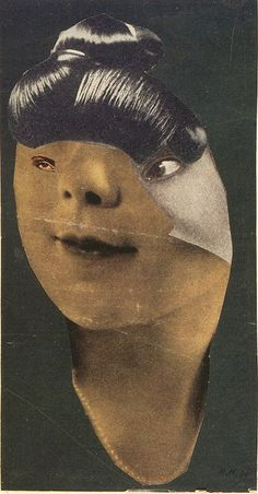 German Girl, 1930 // Hannah Höch Hannah Höch was a German Dada artist. She is best known for her work of the Weimar period, when she was one of the originators of photomontage.