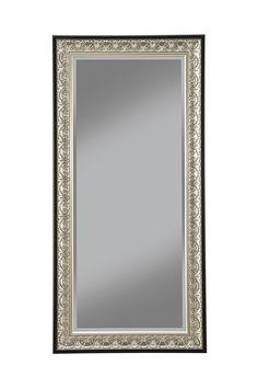 Amazon.com: Sandberg Furniture 16011 Full Length Leaner Mirror Frame, Antique Silver/Black: Kitchen & Dining