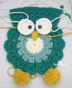 Crochet Owl Super Scarf – Free Pattern