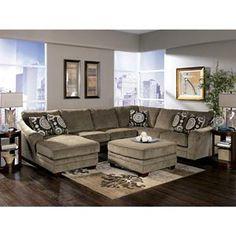 Ashley 3 Piece Sectional   Nebraska Furniture Mart SKU: 34037630 $1039.99.  Ashley Oversized