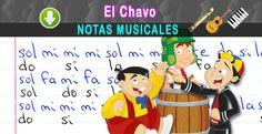 Notas Musicales: El Chavo / Notas Musicales + Video Tutorial