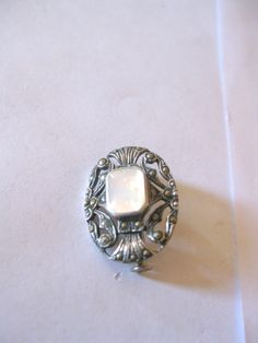 Vintage 1 Sterling Silver .925 Nacre Pin  by PureJewelryElegance, $15.00