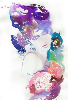 Stunning watercolor portraits.