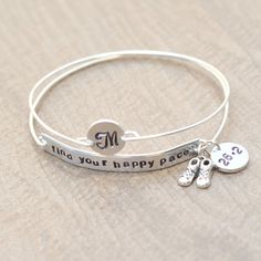 Marathon bracelet  Find your happy pace (13.1)  Runners by shopgetlucky