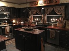 Kitchen: Entranching Primitive Country Bedrooms Creating Kitchen Decor Of from Country Primitive Kitchen Decor