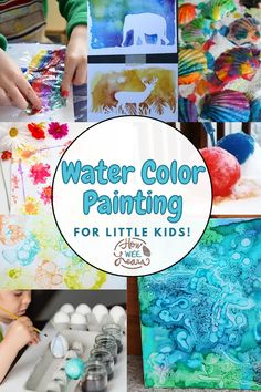 These watercolour painting ideas are perfect for little kids to explore. Use real arts techniques and very simple and easy ways for these painting ideas for preschoolers, toddlers, and big kids as well. A great way to let kids explore real art. Creative Activities For Kids, Kids Learning Activities, Easy Watercolor, Watercolour Painting, Easy Toddler Crafts, Arts And Crafts Projects, Cute Crafts, Teaching Art, Art Techniques