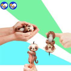Um Brinquedo de Um Sonho Bonito Preguiça Unicórnio Alevinos Bebê Macaco Mão E Pés Dinâmico Inteligente Macaco Dedo Juguetes Eletrônico Animais de Estimação