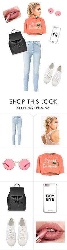 """🙌🏻pretty much an Instagram model..."" by forevertaylor-b ❤ liked on Polyvore featuring Frame and Ray-Ban"