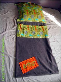 sac de couchage pour la maternelle avec un peu de polaire et du coton !                                                                                                                                                     Plus