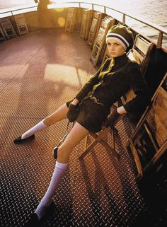 1967 Twiggy with a camera photographed in Manhattan